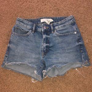 Slightly Distressed Denim Shorts
